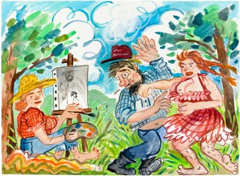 Watercolor by Rebecca Morgan
