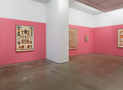 installation of Matthew Craven works on paper