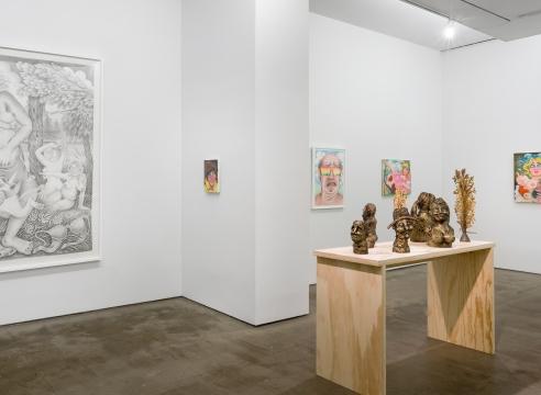 installation of Rebecca Morgan work