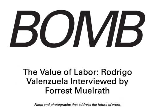 Bomb Magazine interview with Rodrigo Valenzuela