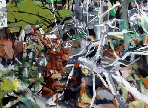 """Painting by Allison Gildersleeve in the Group Exhibition: """"ROOT + BRANCH"""", Robischon Gallery, Denver, CO"""