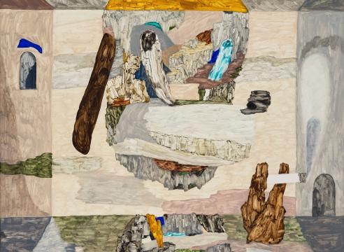Painting on linen by Gudmundur Thoroddsen