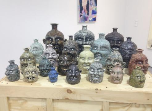 Face jugs by Rebecca Morgan
