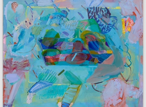 """Painting by Carolyn Case in an interview in the The Asian Curator, """"Artist Profile: Carolyn Case"""", by Anjali Singh"""