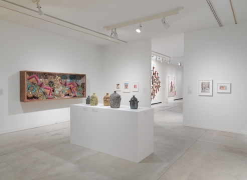 Installation featuring Rebecca Morgan work