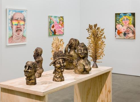 "Rebecca Morgan installation view in Future Fair Online Interview: ""Asya Geisberg of her namesake gallery, located in Chelsea, New York City"""