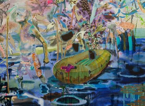 detail of painting by Melanie Daniel