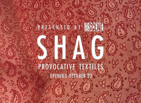 """Group Exhibition with Katarina Riesing: """"SHAG: provocative textiles"""", curated by Laura Hutson Hunter, at Nashville Scene, TN"""