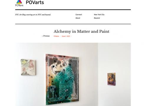 "Press on Angelina Gualdoni: POVarts, ""Alchemy in Matter and Paint"", by Katerina Lanfranco"