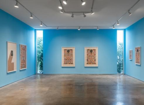 Matthew Craven installation of works on paper