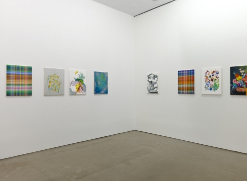 installation of Todd Kelly paintings
