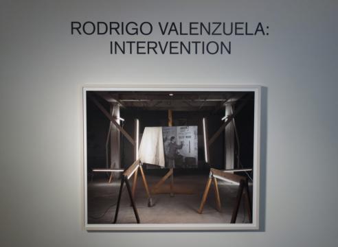 Installation view Rodrigo Valenzuela's Intervention
