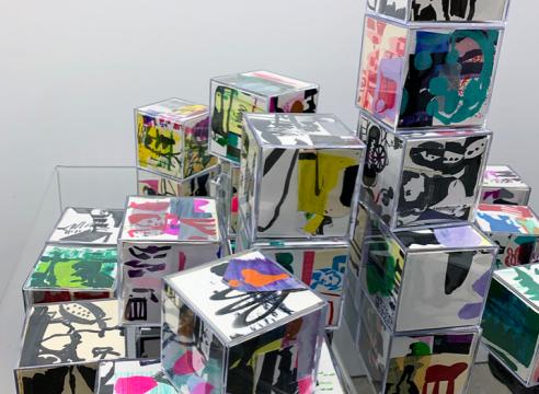 Allison Gildersleeve sketchbook cube sculptures