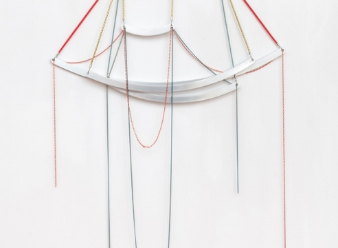 """Sculpture by Trish Tillman in Group Exhibition: """"Things on Walls"""", organized by Benjamin Tischer of New Discretions, at New Work, Affective Care"""