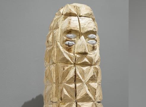 Wood sculpture by Gudmundur Thoroddsen