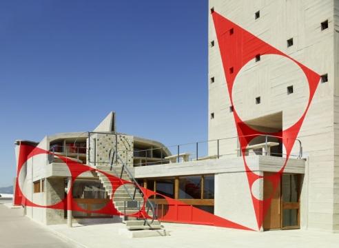 Felice Varini Exhibition at MAMO Art Center