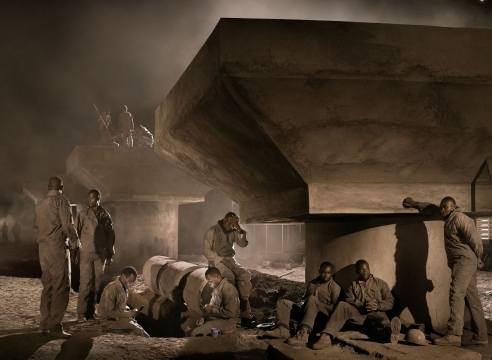 Nick Brandt's Best Photograph: Elephants and Building Workers Share a Crowded Africa