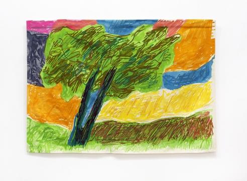 Etel Adnan's wool tapestry L'Olivier