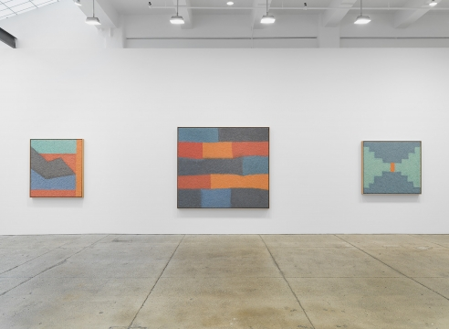 Installation view: Samuel Levi Jones, Mass Awakening, Galerie Lelong & Co., New York