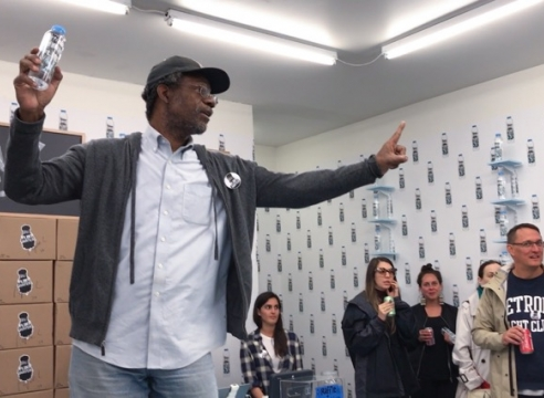 Selling Flint's water? Art installation raises funds and awareness for Flint, Detroit water victims