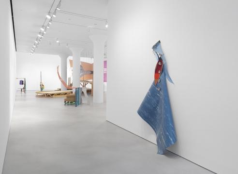 Feeling gravity's pull: Jessica Stockholder's stacked works at Mitchell-Innes & Nash