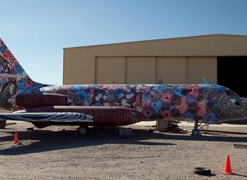Andrew Schoultz -The Boneyard Project: Return Trip- Pima Art and Space Museum Tucson, AZ