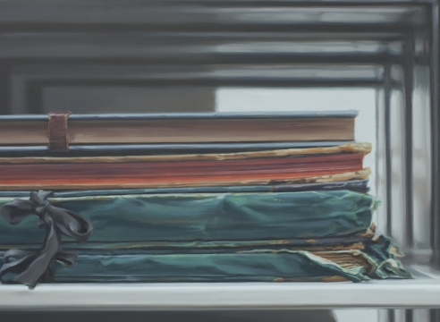 Close Reading: Xie Xiaoze paints blown-up books, by Edward M. Epstein