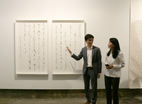 Private Artist Tour with Cui Fei and Lucy Liu at Chambers Fine Art, New York