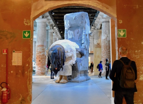 """Yin Xiuzhen on view in """"May You Live In Interesting Times"""" at the 2019 Venice Biennale"""