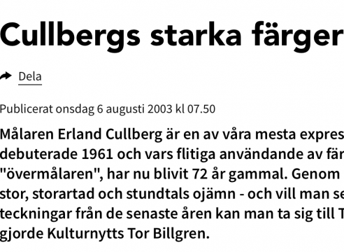 Erland Cullberg / Tomelilla Konsthall
