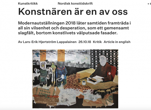 Anders Sunna / Modernautställningen 2018