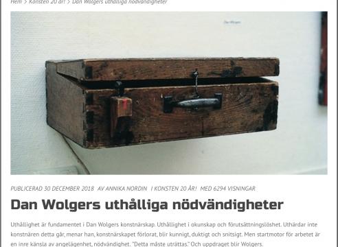 Dan Wolgers / Konsten 20 år!
