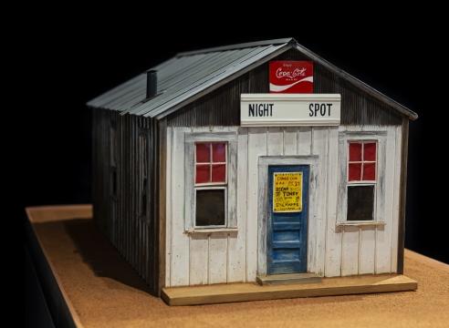 William Christenberry, Night Spot, 1983-1984
