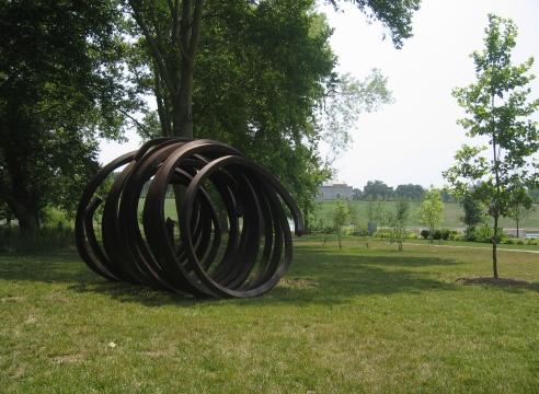 Bernar Venet: traveling sculpture, Forest Park