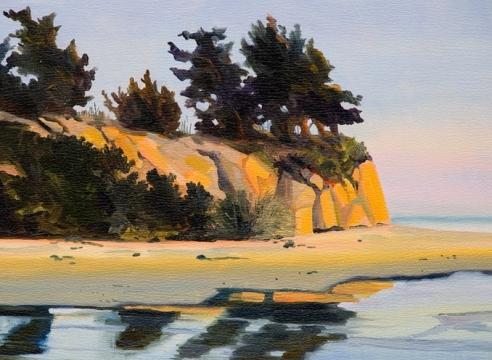 ROBIN GOWEN , Cliffs by the Beach,