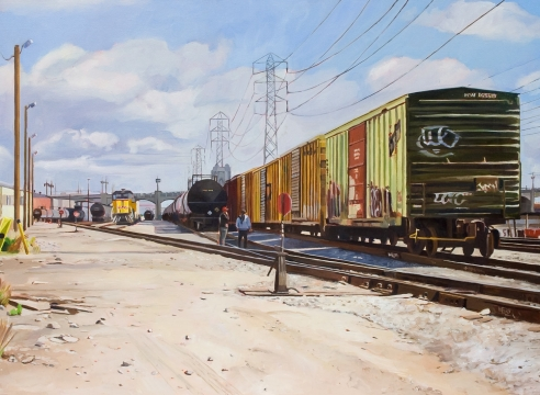 PATRICIA CHIDLAW, Freight and First St. Bridge, LA, 2020