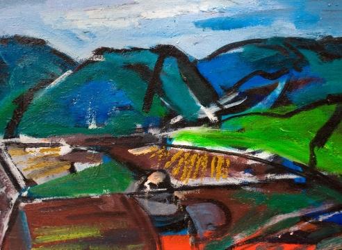 CHANNING PEAKE (1910-1989), Figueroa Mountain, c. 1980s