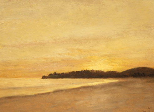 LOCKWOOD DE FOREST (1850-1932), Sunset over the Point - Refugio, North of Santa Barbara, December 22, 1902