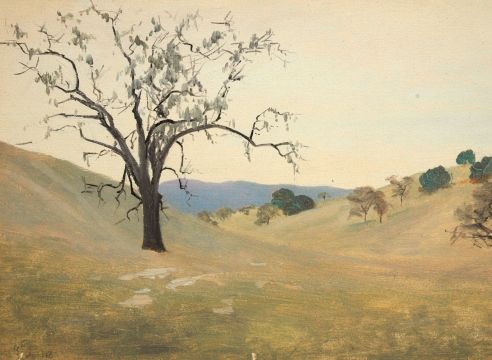 LOCKWOOD DE FOREST (1850-1932), Santa Ynez Hills II, Mar. 1913