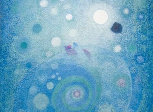 """OSKAR FISCHINGER (1900-1967), Space Spiral (a.k.a. """"Blue Spiral""""), 1958"""