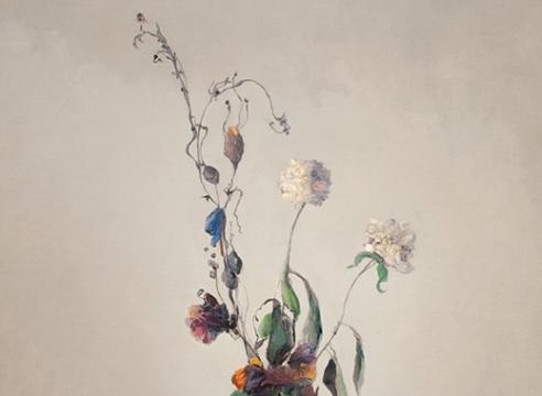 LEON DABO (1864-1960) , Vase Blanc Avec Fleurs, c. late 1930s