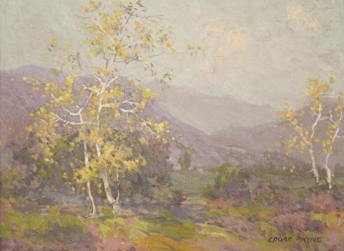 EDGAR PAYNE (1883-1947), Sycamores in Landscape