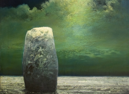 MICHAEL DVORTCSAK (1938-2019), Standing Stone in Moonlight, 2002