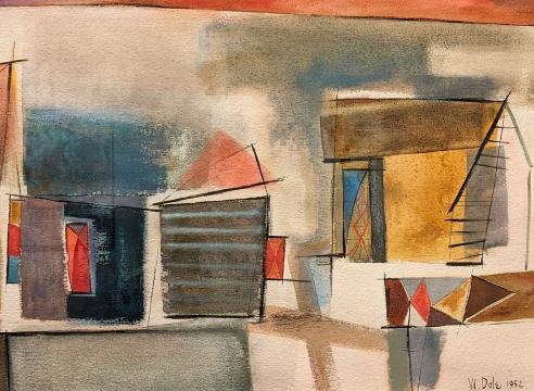 WILLIAM DOLE (1917-1983), Buildings, 1952
