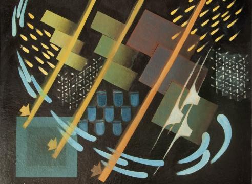 OSKAR FISCHINGER (1900-1967), Composition 44, 1944