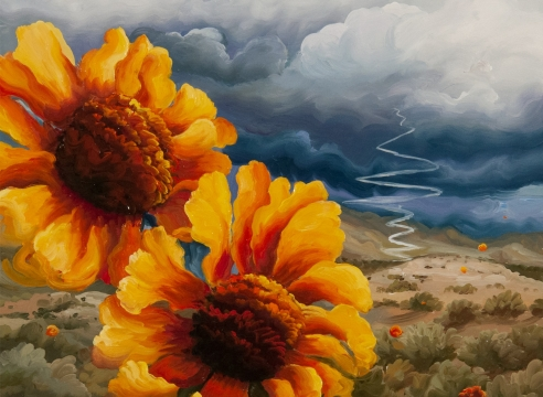 PHOEBE BRUNNER, Two Sunflowers