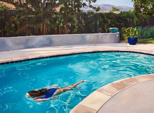 PATRICIA CHIDLAW , Backyard Pool, Mermaid, 2021