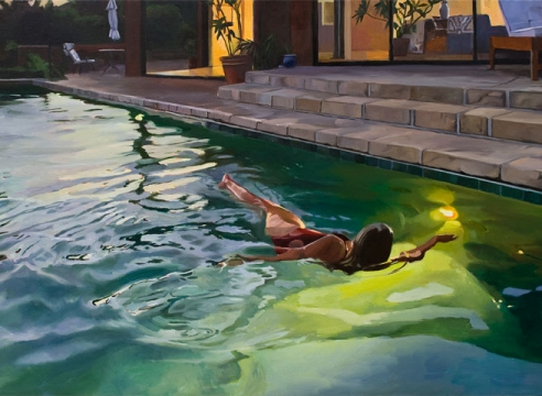 PATRICIA CHIDLAW, Evening Swim, 2020