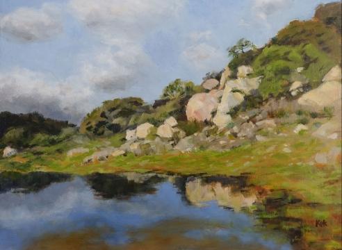 ONNO KOK , Spring Tarn Near Camino Cielo, 2020