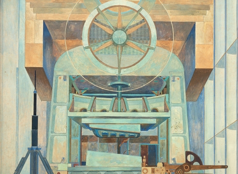 EMIL KOSA, JR. (1903-1968), Mural Study for Lockheed Aircraft Corporation, 1954